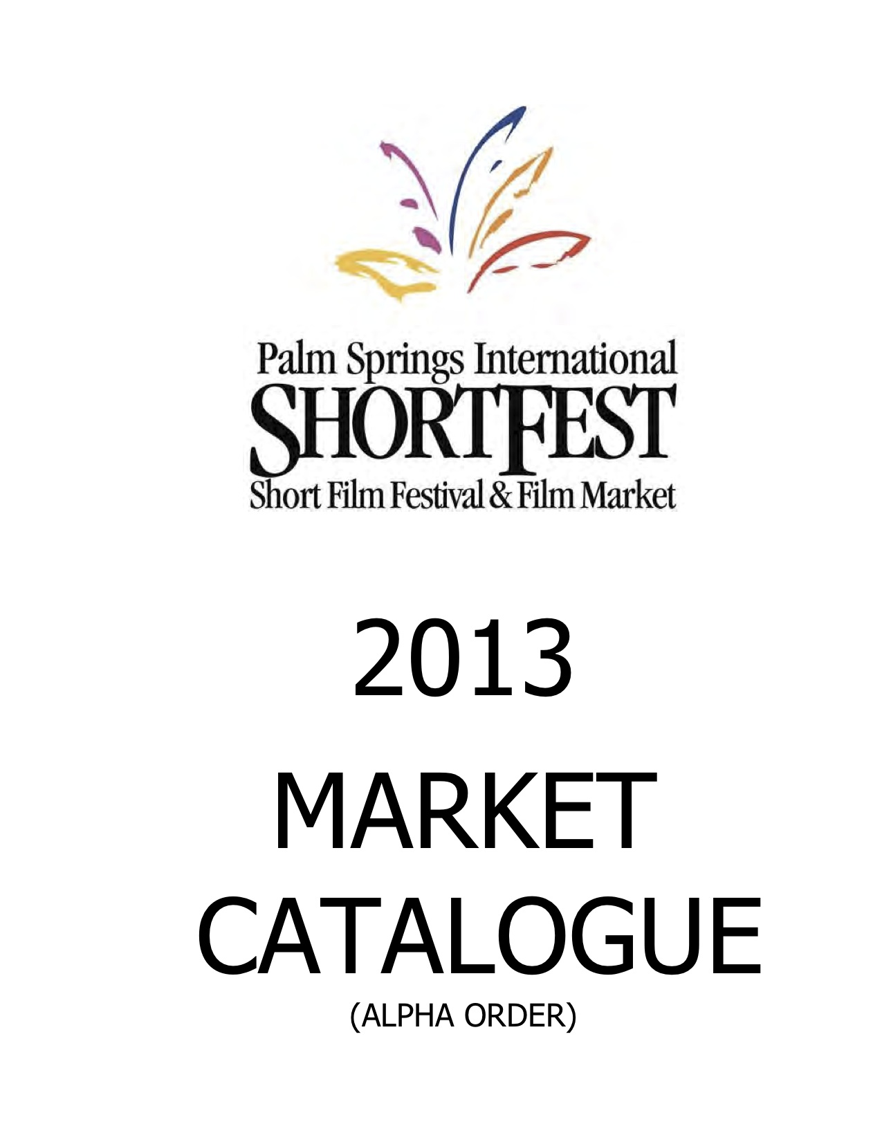 2013 Palm Springs International Film Market Catalogue cover